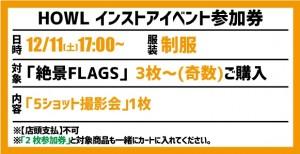 【イベント参加券(3枚~奇数)】絶景FLAGS