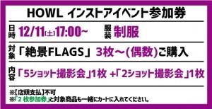【イベント参加券(3枚~偶数)】絶景FLAGS